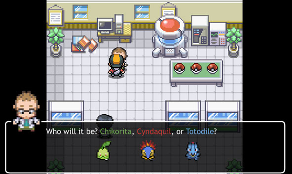 pokemon tower defense 2: who will it be? chikoriate cyndaquiil or totodile